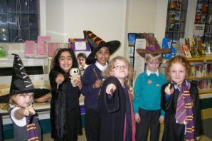 Wizard time at Keighley Library during Harry Potter day