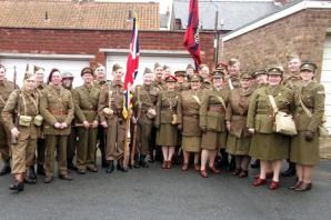 Haworth Living History group members recruited to add authenticity to new Dad's Army film