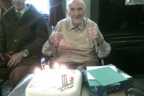 105th birthday party for Steeton Court resident Arthur Bailey