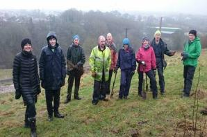Residents join eco-volunteers to create Guard House allotment